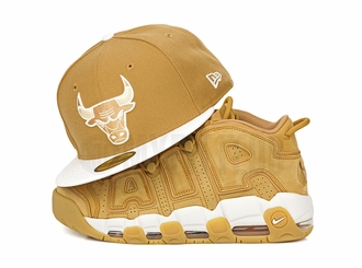 Chicago Bulls Birch Veneer White Air Jordan I, VI, XIII Golden Harvest Flax New Era Hat