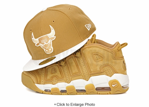 Chicago Bulls Birch Veneer White Air Jordan I, VI, XIII Golden Harvest Flax New Era Snapback