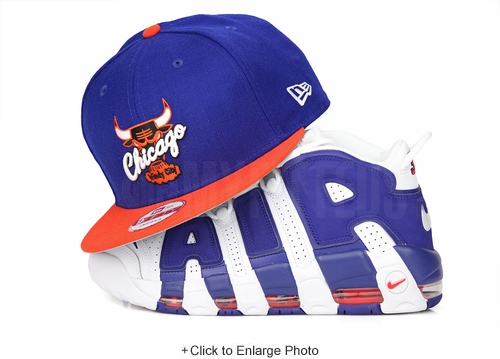 "Chicago Bulls Club Royal Orangeade Air More Uptempo 96 ""Knicks"" ""The Dunk"" New Era Snapback"