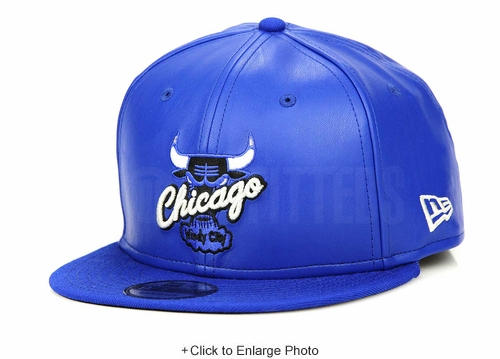 "Chicago Bulls Collegiate Royal Faux Leather Air Jordan V ""Blue Suede"" Matching New Era Snapback"
