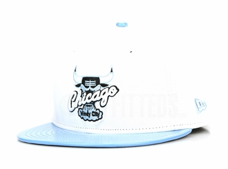 "Chicago Bulls Glacial White Ultra Blue Faux Patent Air Jordan XI Low ""Pantone"" Matching New Era Hat"