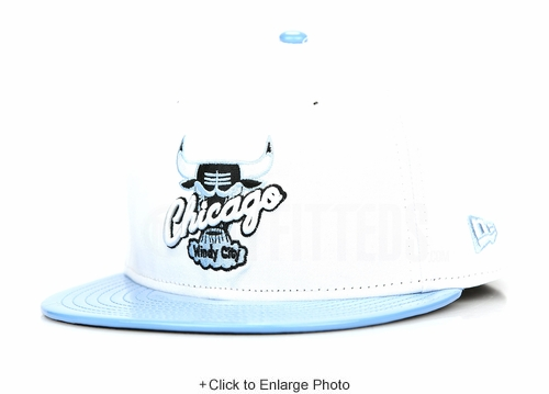 "Chicago Bulls Glacial White Ultra Blue Faux Patent Air Jordan XI Low ""Pantone"" New Era Snapback"