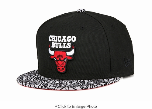 "Chicago Bulls Jet Black Elephant Air Jordan III ""Black Cement"" New Era Fitted Cap"