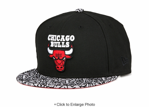 "Chicago Bulls Jet Black Elephant Air Jordan III ""Black Cement"" New Era Snapback"