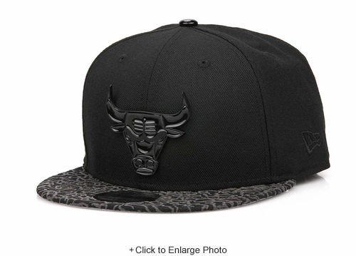 "Chicago Bulls Jet Black Elephant Air Jordan III ""Flyknit"" Metal Badge New Era Snapback"
