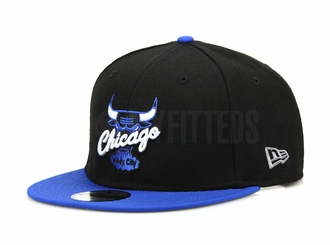 "Chicago Bulls Jet Black Forza Azure Air Jordan IV ""Motorsport Away"" Matching New Era Snapback"