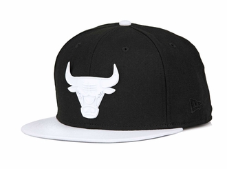 "Chicago Bulls Jet Black White Metal Badge Air Jordan X ""I'm Back"" New Era Fitted Cap"
