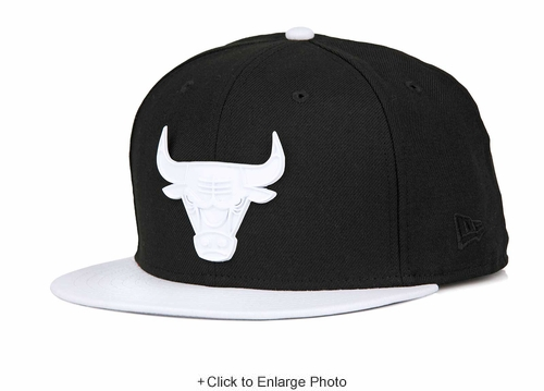 "Chicago Bulls Jet Black White Metal Badge Air Jordan X ""I'm Back"" New Era Snapback"