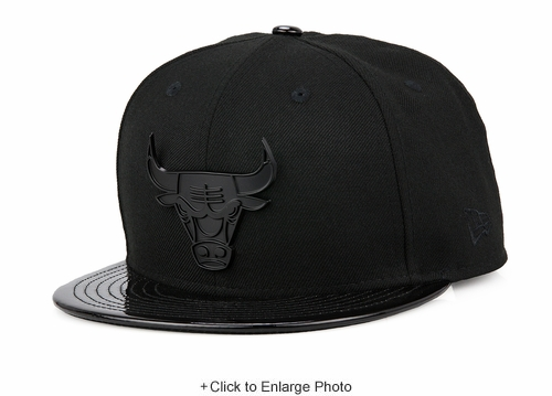 "Chicago Bulls Metal Badge Air Jordan XI ""Cap and Gown"" Matching New Era Snapback"