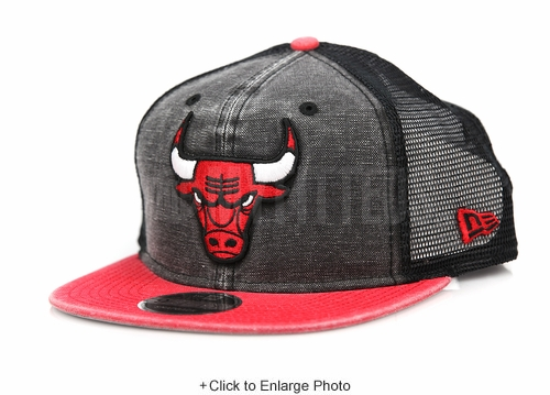 Chicago Bulls Rugged Team Trucker Official Team Colors New Era Trucker Original Fit Snapback