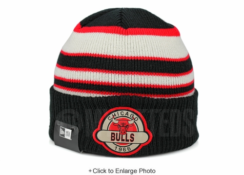 Chicago Bulls Striped Select Est. 1966 Double Knit New Era Winter Skully Beanie