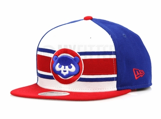 Chicago Cubs Throwback Stripe 2 Official Team Colors Original Fit New Era Snapback