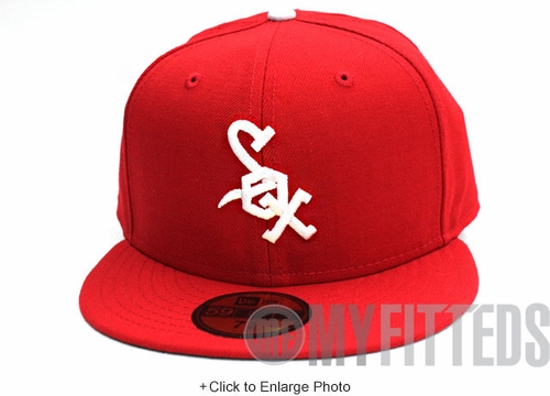 CHICAGO WHITE SOX 1971 Retro Scarlet White New Era Fitted Cap