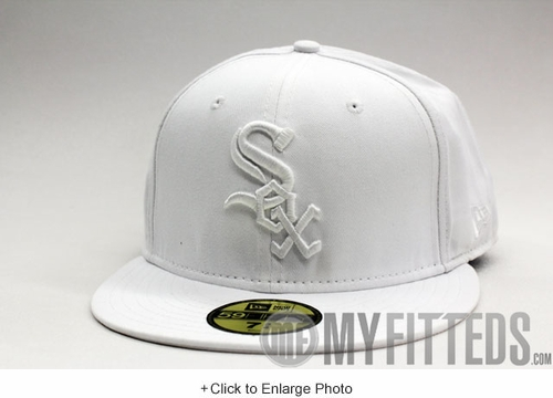 CHICAGO WHITE SOX Classic White on White 59Fifty New Era Cap
