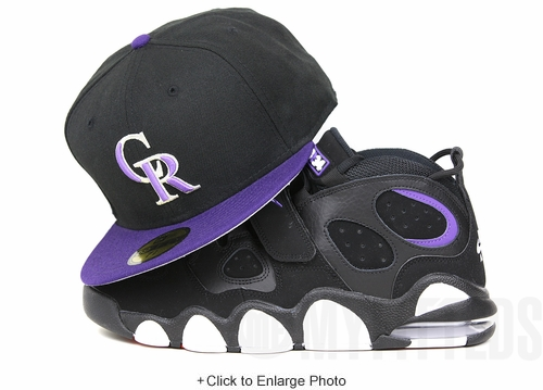 "Colorado Rockies 2000 Jet Black Concord Retro Air Max CB34 ""Godzilla"" Matching New Era Hat"