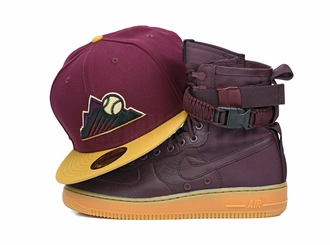 Colorado Rockies Intense Maroon Birch Veneer Gum Pack Custom New Era Fitted Cap