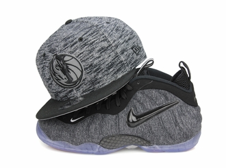 "Dallas Mavericks Jet Black French Terry Fresh Air Foamposite Pro ""Tech Fleece"" New Era Snapback"