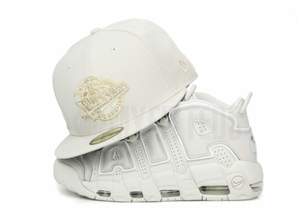 """Detroit Pistons Sandstone Air More Uptempo 96 """"To the Bone"""" Matching New Era Fitted Cap"""