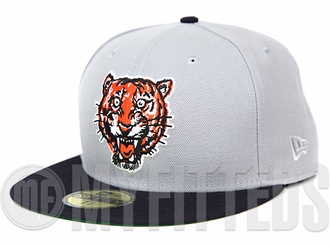 Detroit Tigers Placid Grey Midnight Navy Orangeade Road Jersey Inspired New Era Fitted Cap