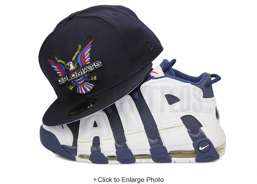 "Diplomats Dipset Harlem World Big Eagle Midnight Navy Air More Uptempo ""Olympic"" New Era Hat"