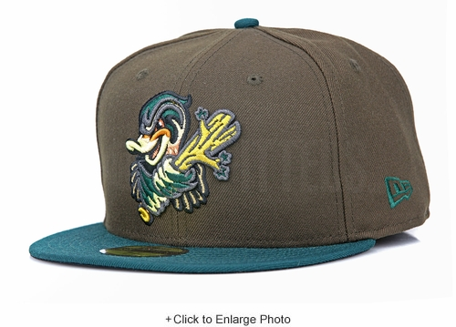 Down East Wood Ducks Mahogany Holly Leaf Bronze Beef & Broccoli Custom New Era Hat