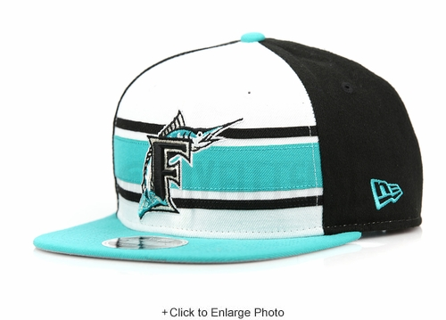 Florida Marlins Throwback Stripe 2 Official Team Colors Original Fit New Era Snapback
