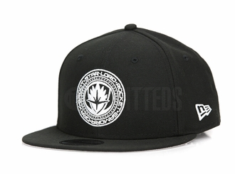 Guardians of the Galaxy Volume 2 Jet Black Glacial White Galaxy Shield New Era Snapback Hat