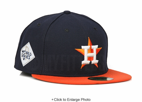 Houston Astros 2017 MLB World Series Road On-Field Authentic New Era Fitted Cap