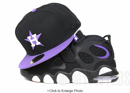 "Houston Astros Jet Black Hyacinth Iris Air Max CB34 ""Godzilla"" Nightmare Before X-Mas Crazy 8 New Era Hat"