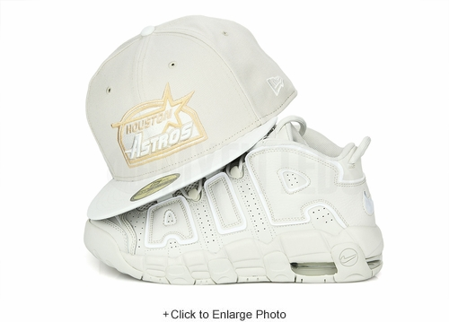 """Houston Astros Sandstone Glacial White Air More Uptempo 96 """"To the Bone"""" New Era Fitted Cap"""
