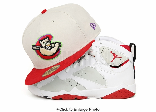 """Kane County Cougars Sandstone Scarlet Air Jordan VII """"Hare"""" """"Bugs Bunny New Era Fitted Cap"""