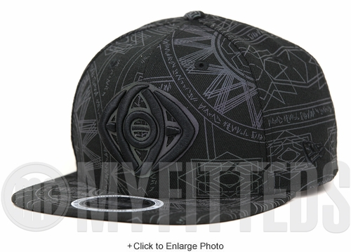 Marvel Comics Dr. Strange Xeno Reflective Crest All Over Jet Black Original Fit New Era Snapback