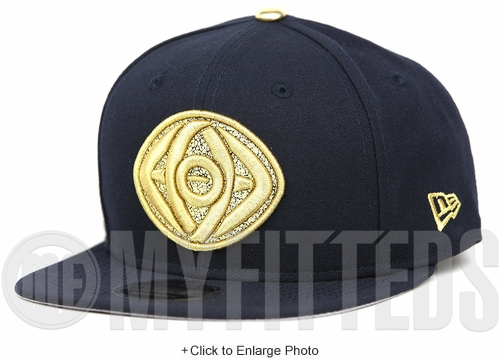 Marvel Dr. Strange 2016 Movie Midnight Navy Metallic Gold Cracked Crest Original Fit New Era Snapback