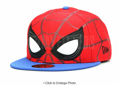 """Marvel Spider-Man """"Homecoming"""" 2017 Movie All Over Character Face New Era Fitted Cap"""