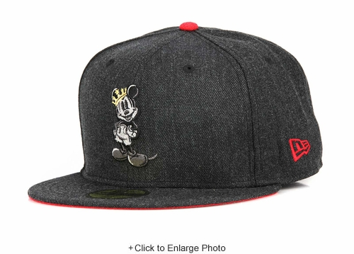 Mickey Mouse Heather Hype King Mickey Carbon Graphite Scarlet New Era Hat