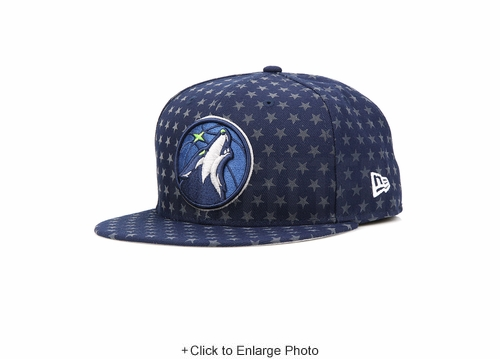 Minnesota Timberwolves Star Statement All Over Reflective New Era Fitted Cap
