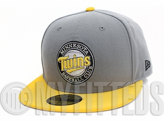 Minnesota Twins Placid Grey Autumnal Equinox White Black Custom New Era Hat
