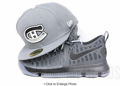 Montreal Canadiens Wolf Storm Grey White Jet Black Spur Silver Gradience KD9 New Era Fitted Hat