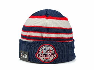 New England Patriots Striped Select Est. 1960 Double Knit New Era Winter Skully Beanie