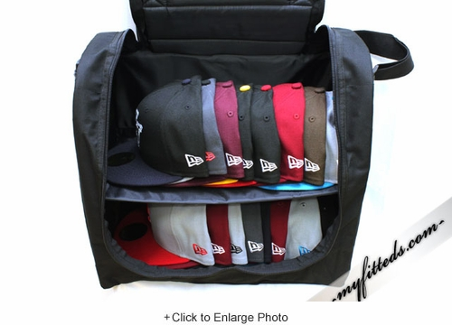 New Era Authentic 24 Cap Carrier Jet Black Jet Black with Padded Shoulder Strap