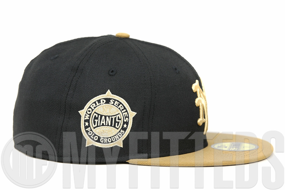 old new york giants baseball cap hat uk jet black birch veneer world series polo grounds era fitted