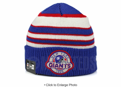 New York Giants Striped Select Est. 1925 Double Knit New Era Winter Skully Beanie