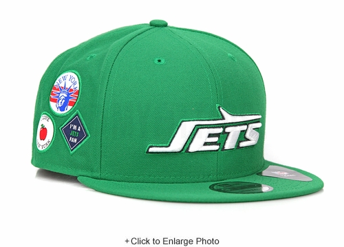 New York Jets Lucky Green Coming to America Inspired I ❤ NY, 🗽 I'm a Jets Fan New Era Snapback