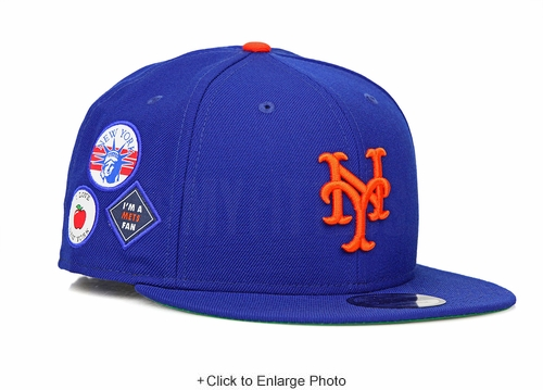 New York Mets Club Royal Coming to America Inspired I ❤ NY, 🗽 I'm a Mets Fan New Era Snapback