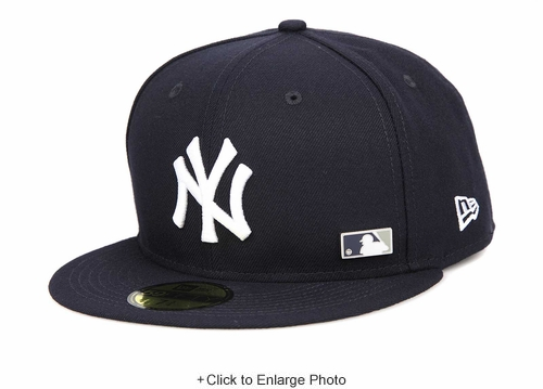 New York Yankees Pinned Up League MLB Metal Badge New Era Fitted Cap