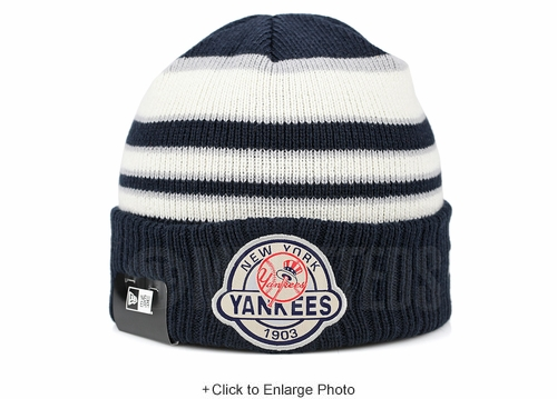 New York Yankees Striped Select Est. 1903 Double Knit New Era Winter Skully Beanie