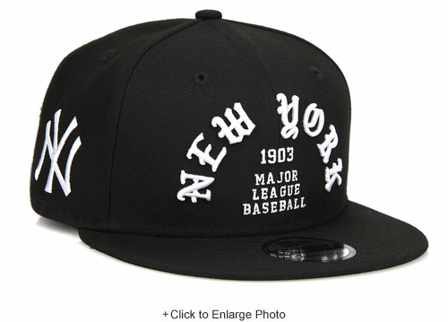 New York Yankees Team Deluxe Old English Pablo Style New Era Snapback