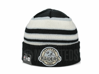 Oakland Raiders Striped Select Est. 1960 Double Knit New Era Winter Skully Beanie