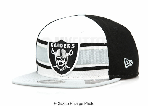 Oakland Raiders Throwback Stripe 2 Official Team Colors Original Fit New Era Snapback