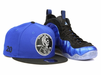 "Penny 1¢ ""20"" Forza Azure Jet Black Air Foamposite One XX ""Royal Blue"" Matching New Era Snapback"